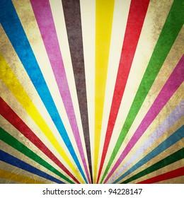 Multi color sunbeams grunge background poster