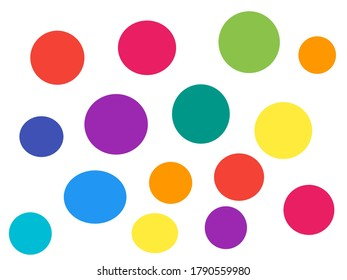 Multi colored circle on white background.