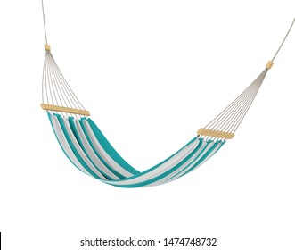 Multi Colored Hammock Isolated. 3D rendering
