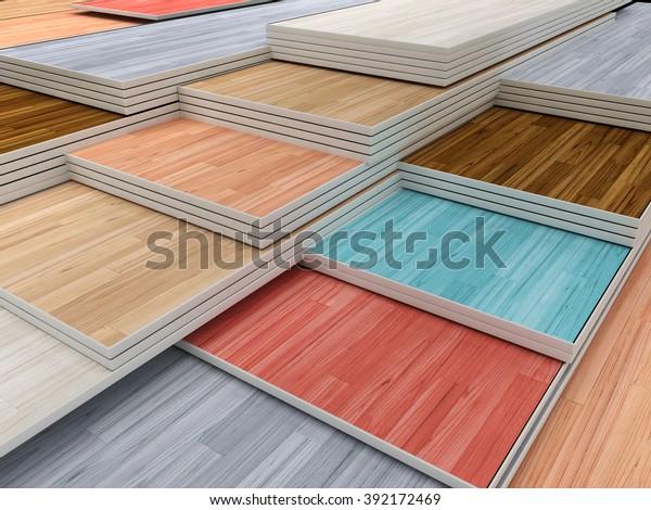 Multi Colored Parquet Flooring Boards Various Stock