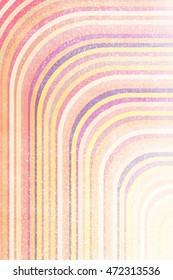 Multi colored washed out lines background. 1970's style colors