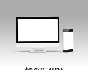 multi devices with blank screen isolated