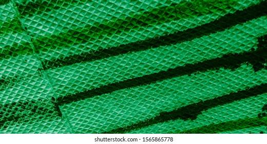 Multi Stripes. Eco Water Color Stripe Pattern. Green Water Color Strips. Stripes Waves Pattern.  WhiteDie. Tie Dye Stripe Pattern. Organic Decoration.