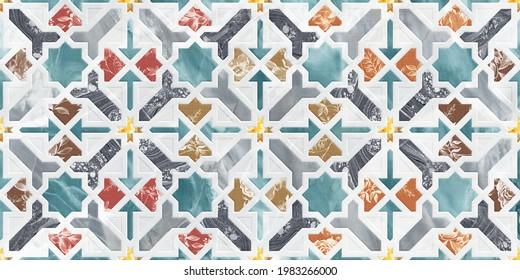 Multicolor 3d digital wall tiles for bathroom.interior home decor wallpaper.
