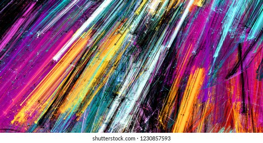 Multicolor abstract painting color texture. Modern futuristic bright pattern. Fine color background. Fractal artwork for creative graphic design