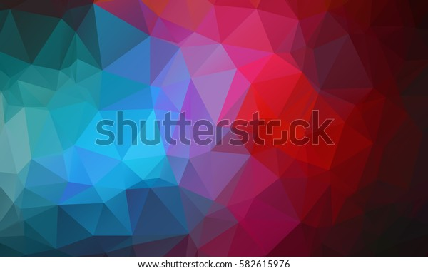 Multicolor Abstract Triangular Mosaic Polygonal Background