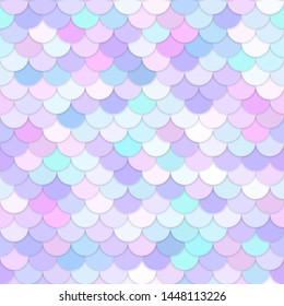 Multicolor backdrop with rainbow scales. Kawaii mermaid princess pattern. Sea fantasy invitation for girlie party. Delicate pastel colors: pink, purple, blue, turquoise. For wallpaper, covers, cards
