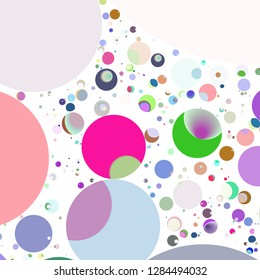 Multicolor geometric circle abstract background seamless pattern.