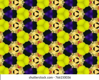 Multicolor mosaic pattern kaleidoscope