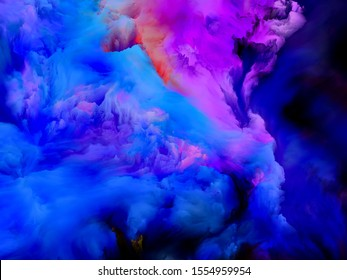 Multicolor Texture. Color Dream series. Design composed of gradients and spectral hues on the subject of imagination, creativity and art painting