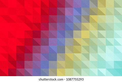 Multicolor triangular low polygon geometric, illustration background abstact, Mosaic background.