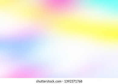 Multicolored backdrop, wallpaper, banner stylish degrade image for graphic design project. Colorful gradient background with yellow blue cyan pink fuchsia purple mauve smooth pastel colors