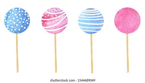 multi-colored festive new year lollipops