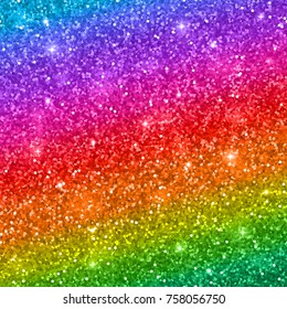 Multicolored glitter background, rainbow gradient. Raster version