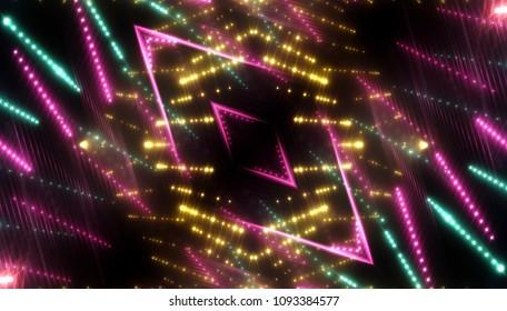 multicolored glitter lights background, beautiful rays of light. illustration digital.