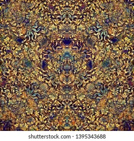 multicolored ornamental structure pattern. Floral ornament background.