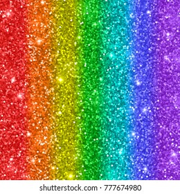 Multicolored rainbow glitter background. Raster version