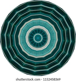 Multicolored shades of teal, white, tan, green mandala. Decorative element, ethnic design, web design, anti-stress therapy, meditation.