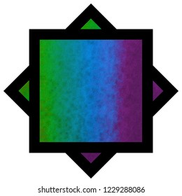 multi-colored textured psychedelic star design