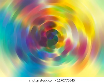 Multicolored tunnel illustration. Abstract background.