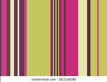 multicolored vertical bayadere stripes, green pink fuchsia and purple