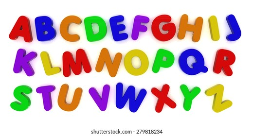 Multicoloured Alphabet Fridge Magnet Letters Background