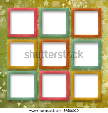Multicoloured Backdrop Greetings Invitations Frames Stars Stock ...
