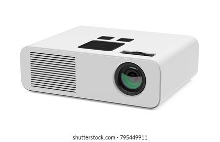 Multimedia Projector Isolated. 3D rendering