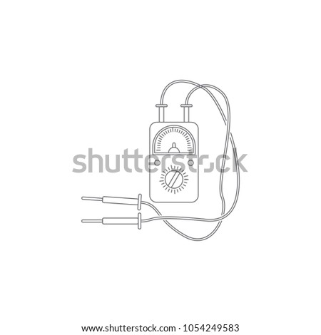 Multimeter Icon Simple Element Illustration Multimeter Stock