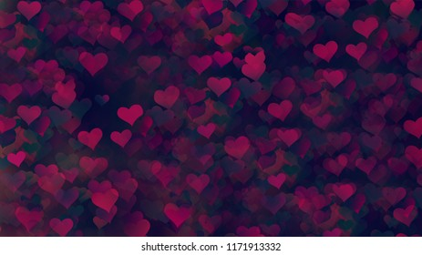 Multiple Background Hearts