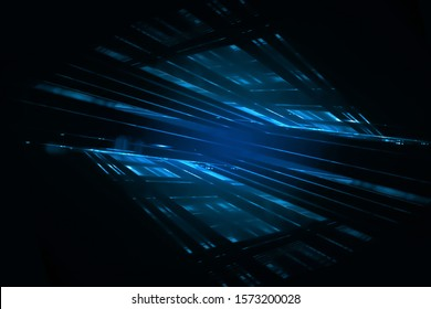 multiple, colourful laser light beams