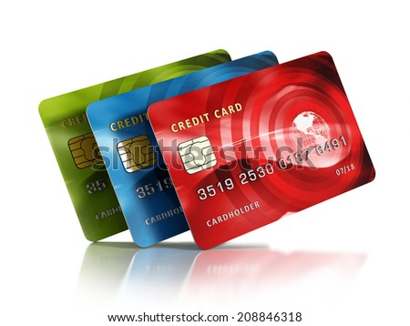 Royalty Free Stock Illustration Of Multiple Credit Cards Isolated On