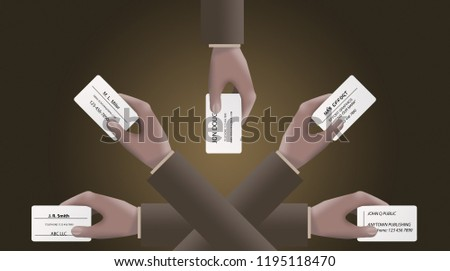 Royalty Free Stock Illustration Of Multiple Hands Exchange Business