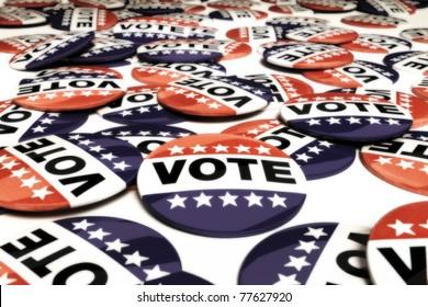 Multiple vote pins , 3d model, 300 D.P.I