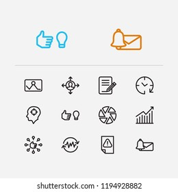 Multitasking icons set. Email alert and multitasking icons with work smarter, drop in productivity and get in routine. Set of person for web app logo UI design.