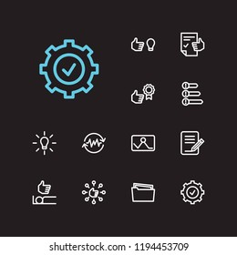 Multitasking icons set. Reward yourself and multitasking icons with group tasks, work smarter and sleep well. Set of gesture for web app logo UI design.