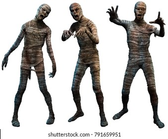 Mummies 3D illustration
