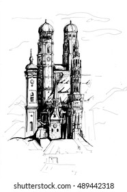 Munich city sketch