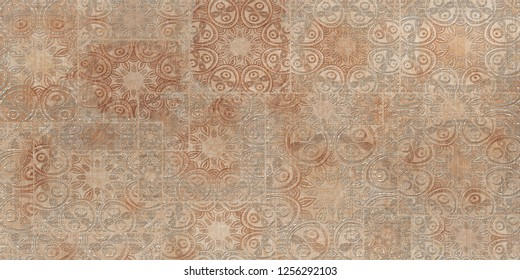 Munich Wall Decor, Heavily Mixed Pattern Brown Colored wall Decor For interior Home Decoration, Ceramic Tile Design For Wall Decoration, wallpaper, linoleum, textile, web page background.