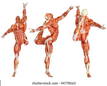 muscle man ballet pose