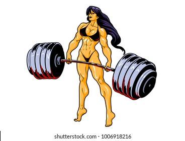 Cartoon Female Bodybuilder Images Stock Photos Vectors Shutterstock