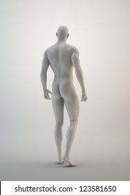 Muscular male sculpture - masculinity concept