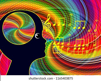 Music affects the brain. Sound stimulates the mood and mind in autistic children in early childhood