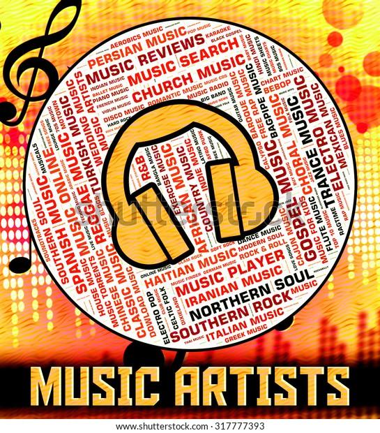 Music Artists Representing Sound Track Harmony Stock
