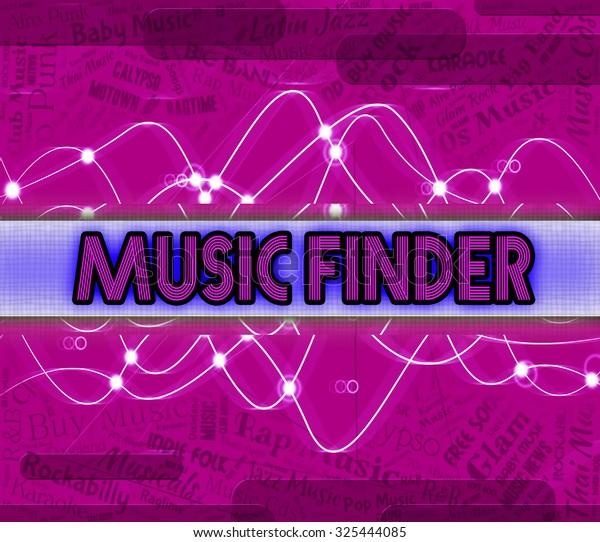 Music Finder Showing Sound Track Soundtrack Stock Illustration 325444085