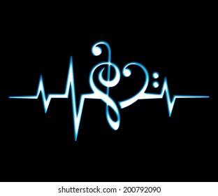 Heartbeat Music Images Stock Photos Vectors Shutterstock
