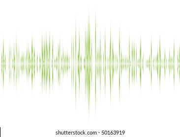 music graphic equalizer inspired background in green and white