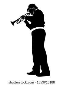 Music man whit jazz band at concert