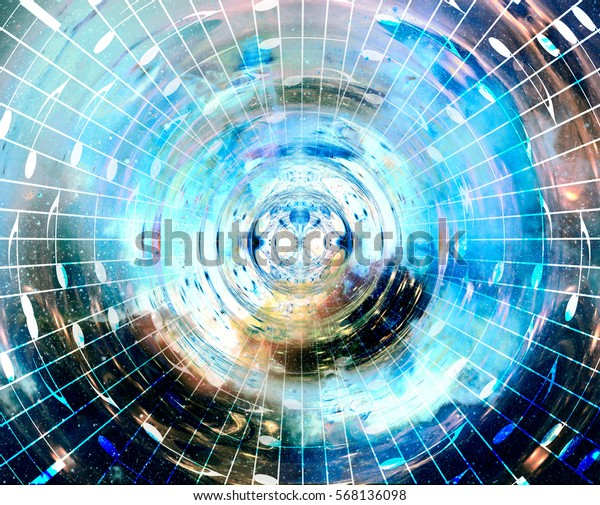 Music Notes Space Stars Abstract Color Stock Illustration