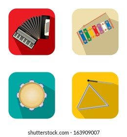 Music and party icon set 3 over white background